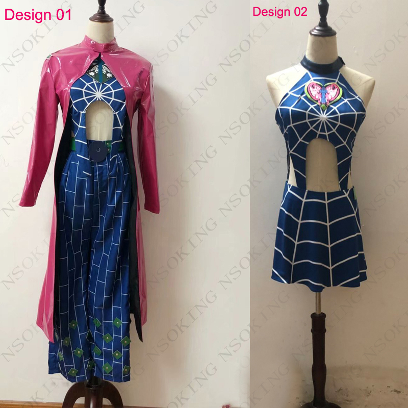 Anime JoJo's Bizarre Adventure Cosplay Jolyne Cujoh Kujo Costume Custom Made