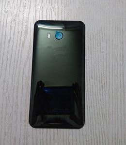 Image 5 - U 11 חזרה כיסוי עבור HTC U11 5.5 אינץ מקורי שיכון זכוכית אחורי דלת תיקון החלפת סוללה מקרה