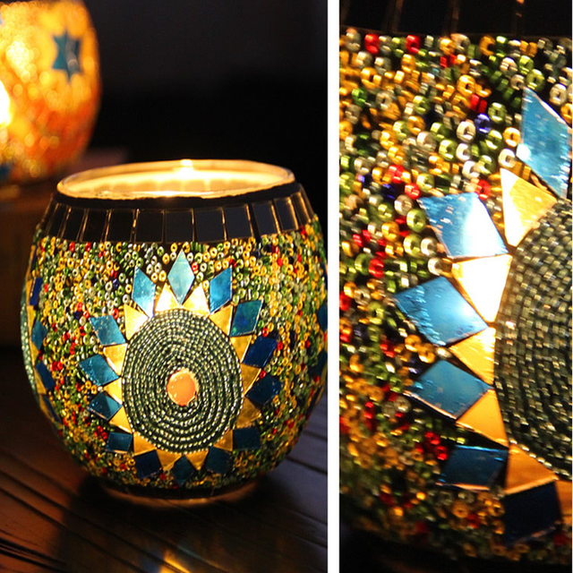 Moroccan style candle holder handm