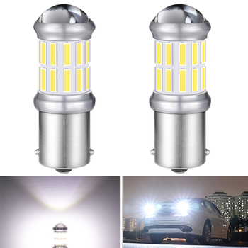 2X 1156 BA15S Canbus PY21W LED Reverse light DRL Turn Signal Light Bulbs Error Free BMW E53 E70 F10 F30 F20 E87 M3 M5 E60 E90 E9 image
