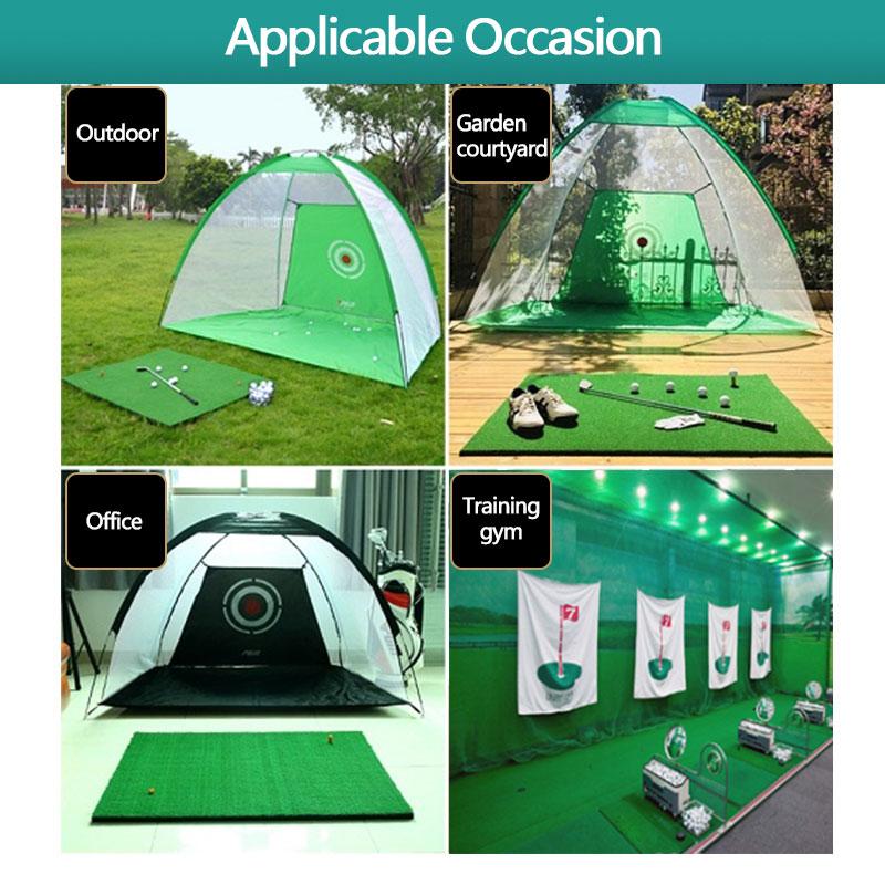 Купить с кэшбэком Golf Practice Grass Mat Indoor Training Hitting Pad Backyard With Rubber Tee Outdoor Mini Golf Training Aids Accessories