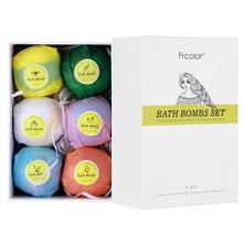 Gift-Set Bath-Bombs Organic Girlfriend Natural Frcolor And for Her Wife 6PCS Idea Handmade