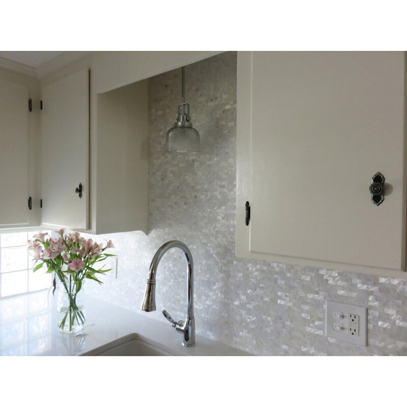 6 shell mosaic tiles peel and stick mother of pearl shell tile for kitchen backsplashes 12 x 12 white brick