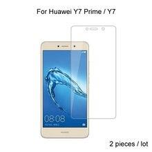 2 шт для huawei y7 prime / Премиум 25d 026 мм Закаленное стекло
