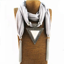 New chain tassel pendant scarf source factory jewelry necklace national wind shoulder