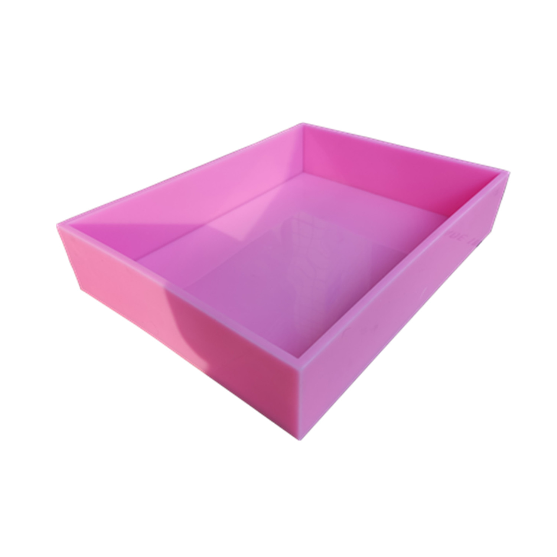 Taille 457*349*89mm grand Silicone dalle moule Silicone plateaux Silicone Liner moules pour la fabrication de savon
