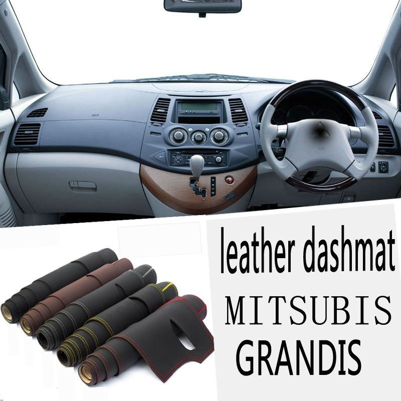 For MITSUBISHI GRANDIS 2003 2004 2005 2006 2007 2008 2011 Leather Dashmat Dashboard Cover Pad Dash Mat Carpet Car-Styling RHD