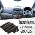 Para MITSUBISHI GRANDIS 2003 2004 2005 2006 2007 2008 2011 Dashmat de cuero almohadilla de la cubierta del tablero Dash Mat alfombra estilo coche RHD