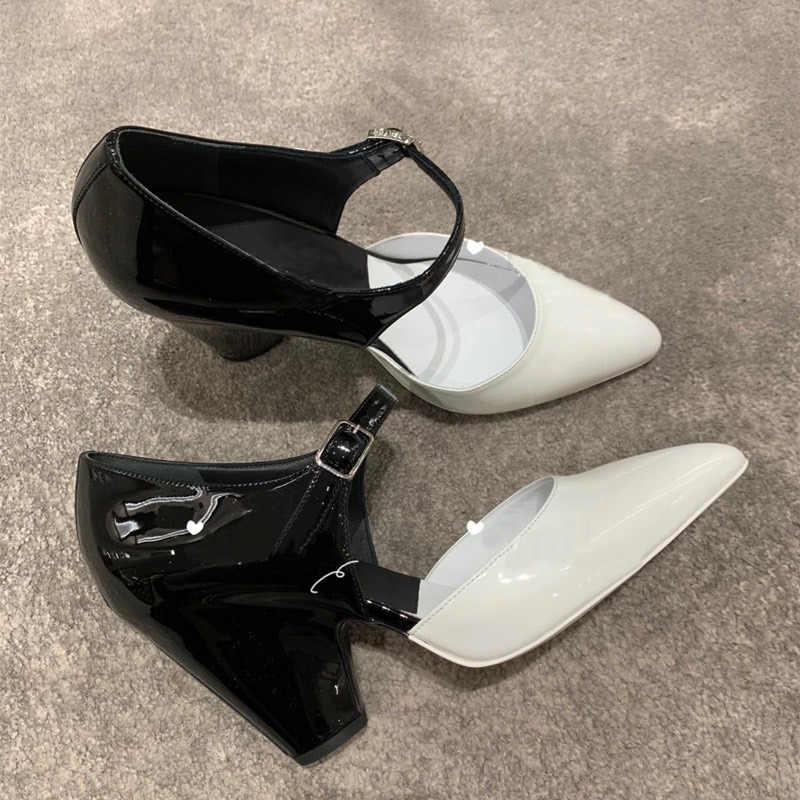Pumpen Frauen Frühling 2020 High Heels Schuhe Frauen Mischfarbe Sexy Buty Damskie Patent Leder Damen Schuhe Gemütliche Zapatos De mujer