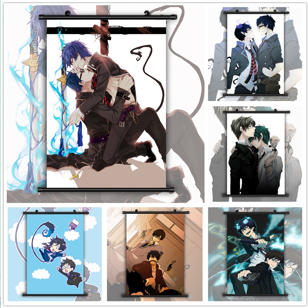 Ao no Exorcist okumura rin HD Print Anime Wall Poster Scroll Room Decor