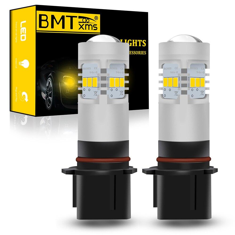 BMTxms P13W PSX26W светодиодный автомобиль лампы HID Белый Canbus для Peugeot 508 DRL дневные ходовые огни противотуманные фары 1500LM