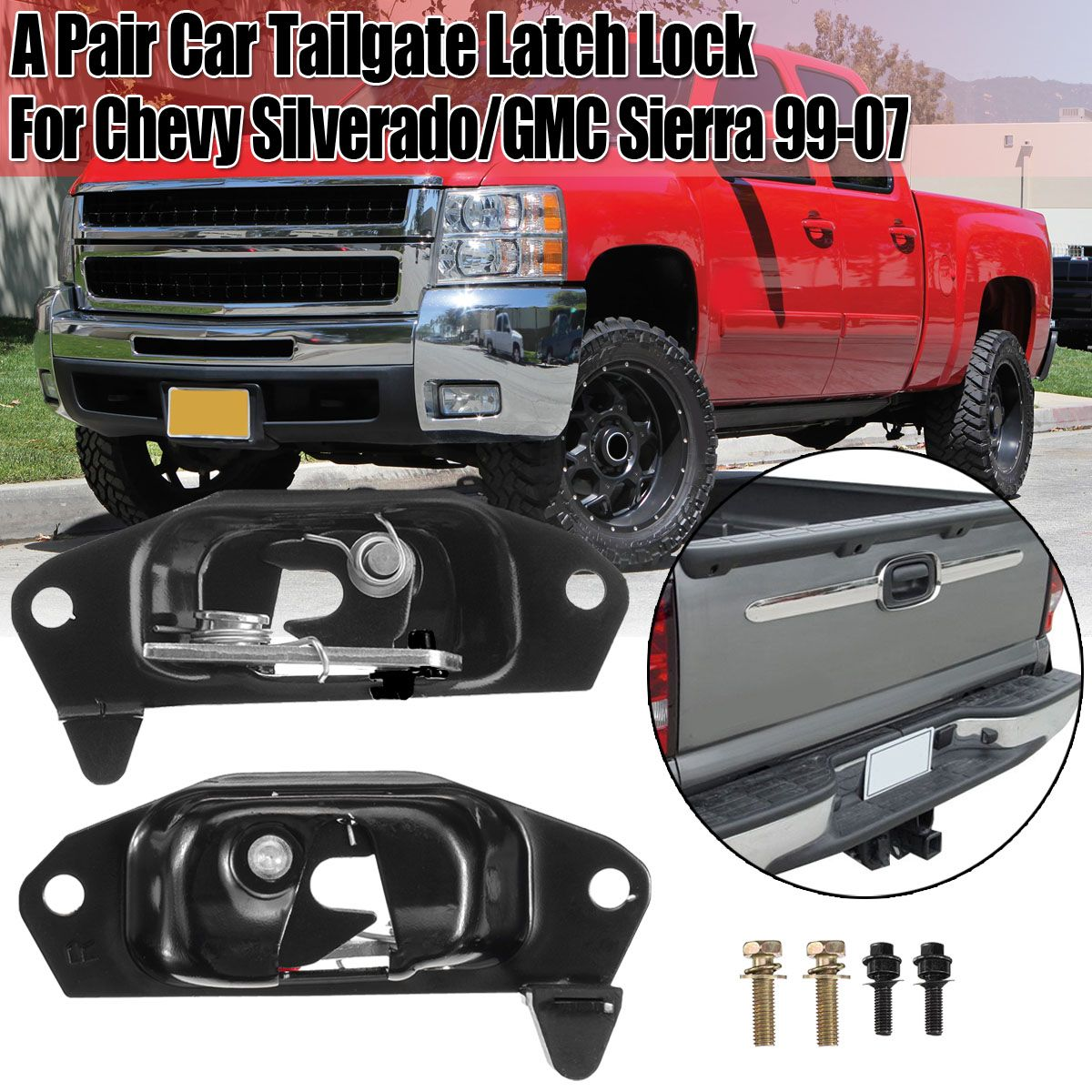 NEW Tailgate LH Latch LEFT Side for 1999-2006 Chevy Silverado /& GMC Sierra Pkup
