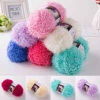 100g Multicolor Pelo Largo visón de Cachemira hilo Mohair hilo de punto lana DIY: hilos e suéter del ganchillo hilo esponjoso hilado de visón