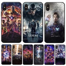 Captain America Iron Man Avengers Cover for iPhone X XS MAX XR 7 8 6 6S plus 5S SE Clear Soft Silicone Phone Case
