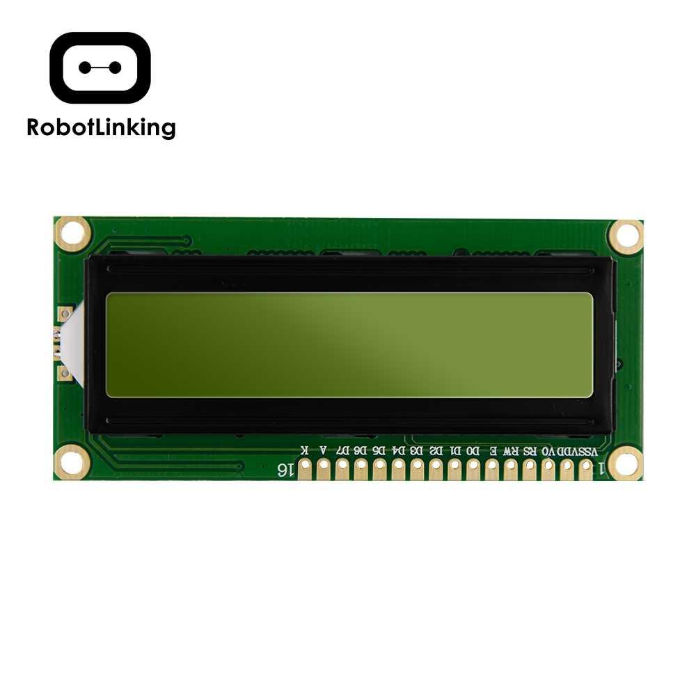 Monitor pantalla módulo LCD 1602 pantalla verde amarilla de 5V y código blanco para placa arduino UNO 2560 Raspberry PI