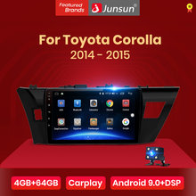 Junsun V1 pro 4G + 64G CarPlay Android 9.0 DSP Per La Toyota Corolla 2014 2015 Auto Radio Multimedia video Player GPS RDS 2 din dvd(China)