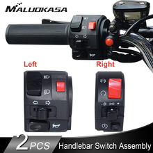 Motorcycle Switches Horn Handlebar Light-Start Button-Turn-Signal Universal Electric