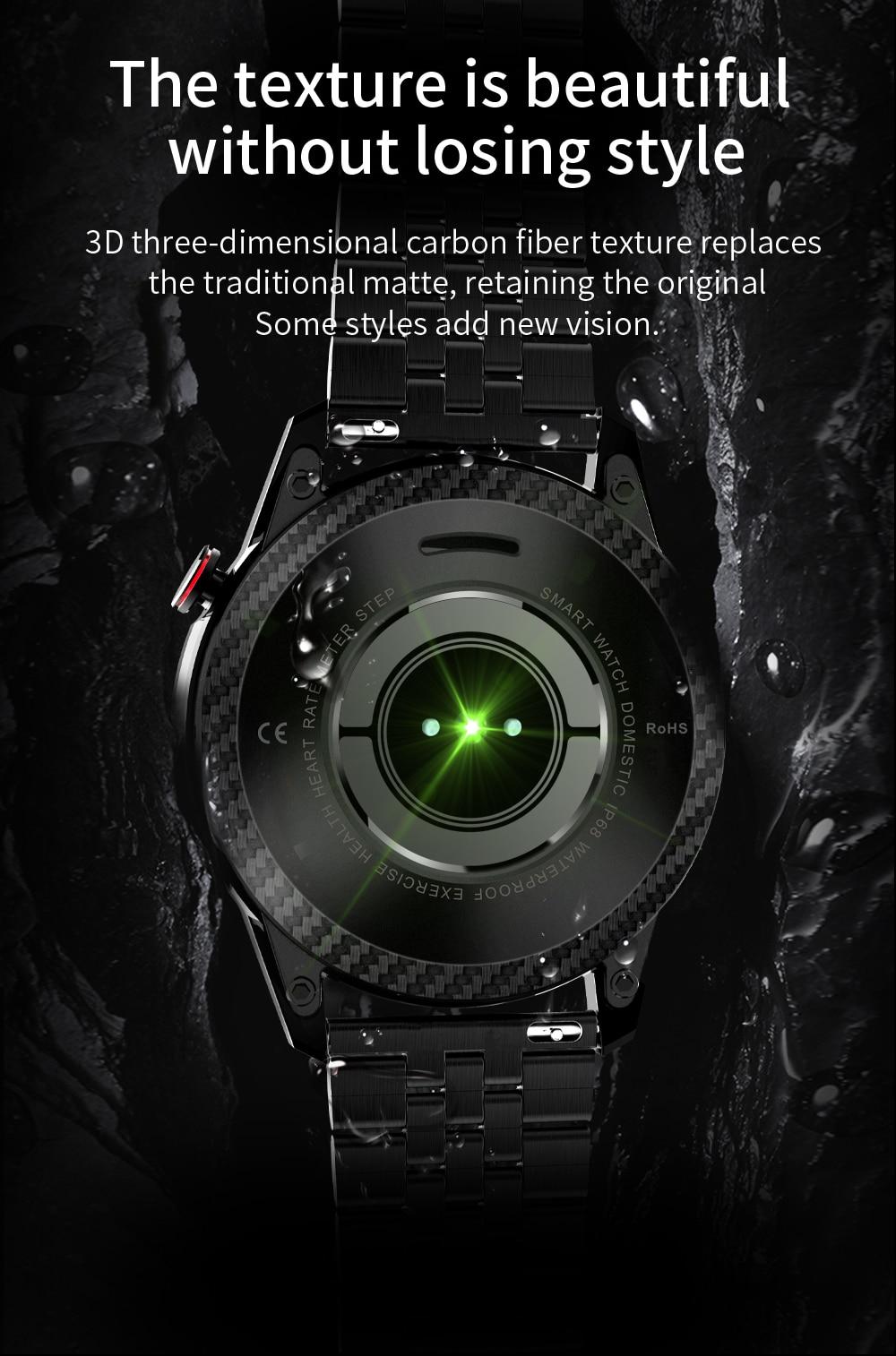 H4277086de5fd4c18bc595787694f52b3b New Smart Watch Men Bluetooth Call TK2-8 IP68 Waterproof Heart Rate Blood Pressure SmartWatch Fitness Tracker Sports Android IOS