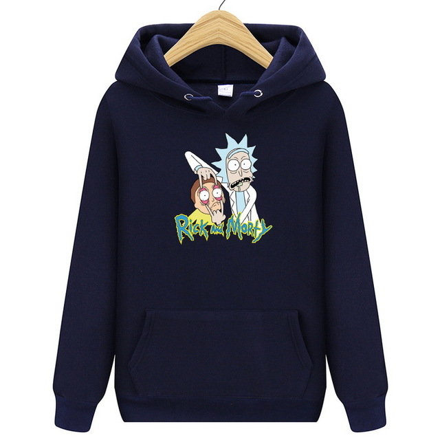 2019 New Autum Design Rick And Morty Mens Hoodies Cotton Funny Print Hoodie Man Fashion Rick Morty Casual Hoodie Sweatshirt