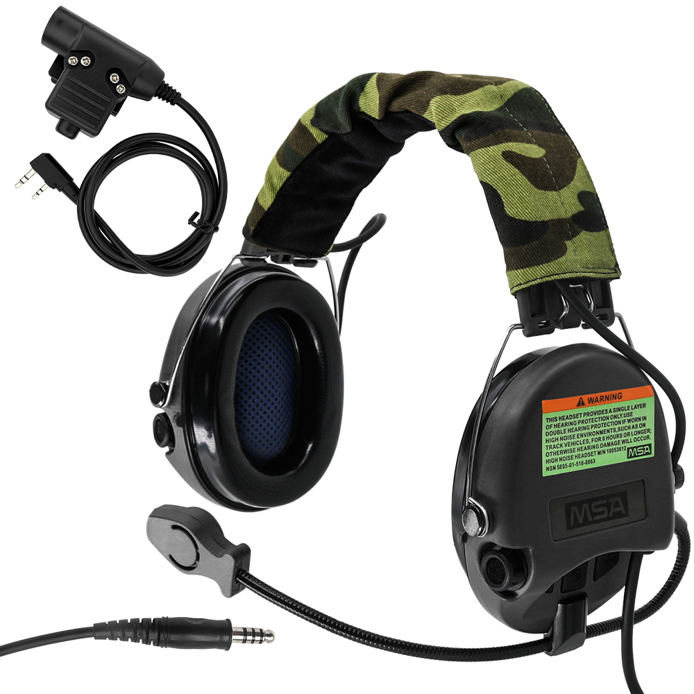 Tactical Headset Hunting Airsoft Sordin Aviation Noise Reduction Headset Military Headphones BK+ PTT U94 2 Pin Plug