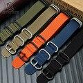 Нейлоновый ремешок для часов Nato ремешок для часов 20 22 23 24 26 мм спортивный модный браслет аксессуары для часов ручной шов простой ремешок