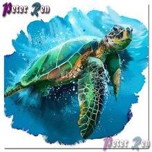 5d животное зеленая коричневая черепаха Алмазный рисунок diy