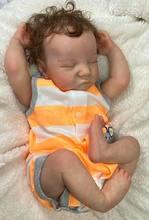 NPK-Muñeca reborn De 48CM para niño, muñeco de bebé reborn con pintura a mano, tacto suave y real, muñeco realista coleccionable