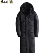 Winter 90 White Duck Down Overcoat New Pattern Men #8217 s Thickening X-Long Down Jackets Slim Keep Warm Hooded Jacket Male Tide cheap Casual zipper Full Wave Cut Zippers Pockets Thick (Winter) Broadcloth Polyester Acetate Hat Detachable 250g-300g Solid