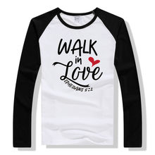 LYTLM WALK in LOVE Men t shirt Modal Long Sleeve Casual Slim Fit mens t-shirt Korean Raglan shirts Fitness Clothing Oversize(China)