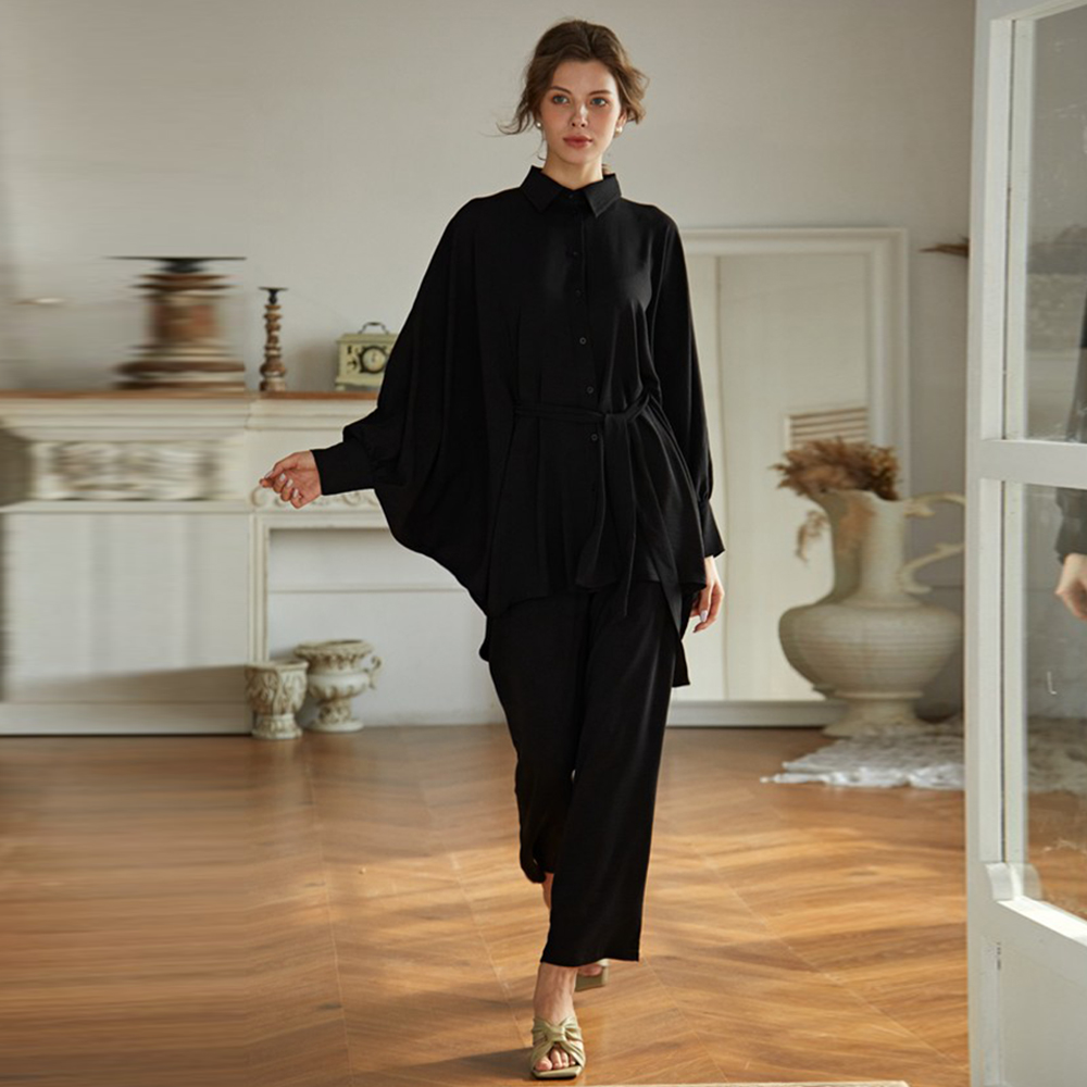 Abaya Dubai Turkey Muslim Sets Fashion European american Islam Clothing Abayas For Women musulman de mode muslimischen sets