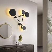 북유럽 거실 벽 조명 현대적인 미니 멀리 즘 창조적 인 성격 라운드 따뜻한 침실 벽 램프|LED 실내용 벽 램프|등 & 조명 -