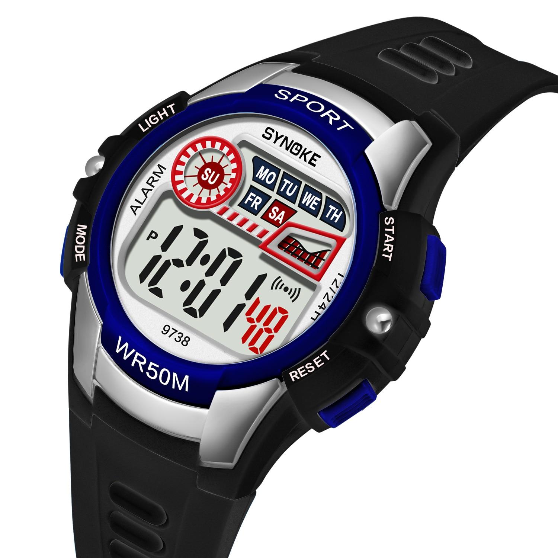 SYNOKE открытый мужские часы мир будильник красочный цифровой наручные часы водонепроницаемый светодиодный дисплей спорт часы для мужчин montre homme