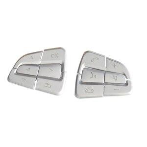 Image 2 - Auto Styling Lenkrad Taste Abdeckungen Trim Aufkleber für Mercedes Benz GLC EINE C Klasse W205 X253 CLA C177 GLA x156 Zubehör
