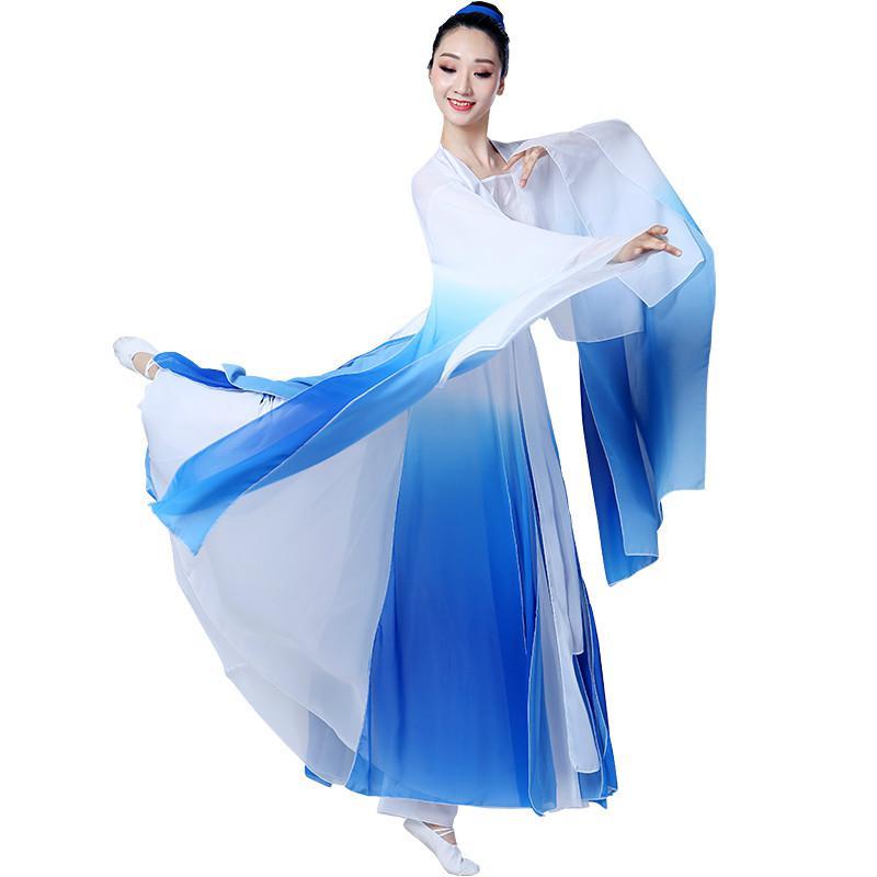 Классические женские костюмы, элегантные платья феи с широкими рукавами в китайском стиле, свежее и элегантное платье феи с зонтиком для