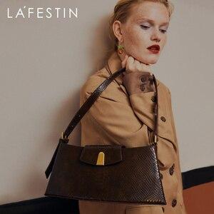 LA FESTIN 2020 fashion shoulder bag ladies handbag leather snake print female bag designer bag elegant high quality