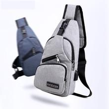 Travel Sling Shoulder USB Charge Chest Bag for Men Casual Multifunction Waterproof Crossbody Bag Women Short Trip 2019 Hot Sale
