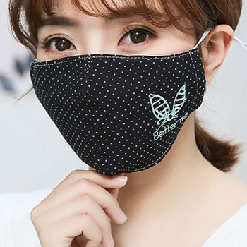 Reusable Protective PM2.5 Filter Printing Cotton mouth Mask anti dust Face mask Windproof Mouth-muffle bacteria proof Flu Mask