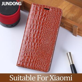 Flip Phone Case for Xiaomi Redmi Note 5 6 7 8 Pro For Mi 8 9 se 9T A1 A2 A3 Lite max 3 Mix 2s 3 Poco F1 Crocodile texture Cover