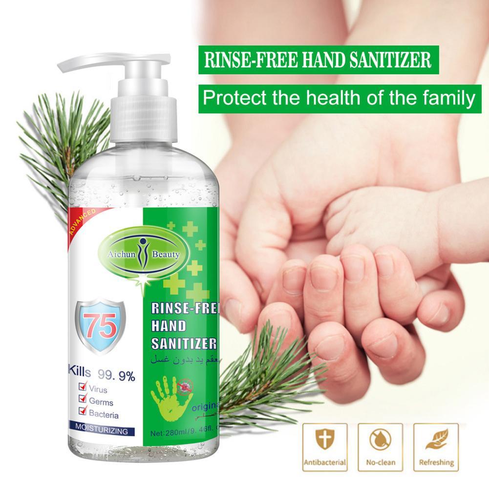 280/500ml No Wash Antibacterial 75% Alcohol Disinfection Spray Portable Disposable Saniting Liquid Hand Sanitizer
