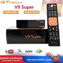GTMedia V9 Super Satellite Receiver DVB-S2 H.265 Built-in WiFi with 1 Year Spain Europe Cccam GTmedia V8 NOVA V9 Super Receptors цены онлайн