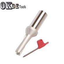 Купить с кэшбэком high quality 2D 40.5mm- 59.5mm shallow Power WCMX insert indexable drills WC U drills triangle coolant drilling