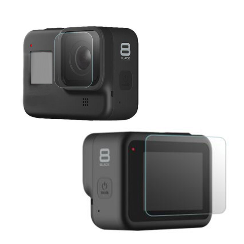 Tempered Glass Protector Cover Case For GoPro Hero 8 Black Go Pro Hero8 Action Camera Lens Display LCD Screen Protective Film