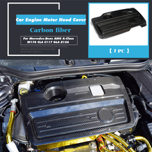 Dry Carbon Fiber Car Engine Motor Hood Frame Cover Sticker Shell Protector for Mercedes-Benz AMG A-Class W176 CLA C117 GLA X156 цена 2017