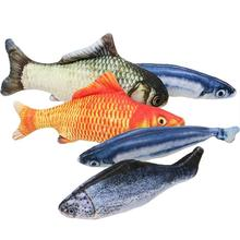 Fish-shaped catnip toy pillow plush cat fish pet chews scratcher creative 3D fish-shaped для котов