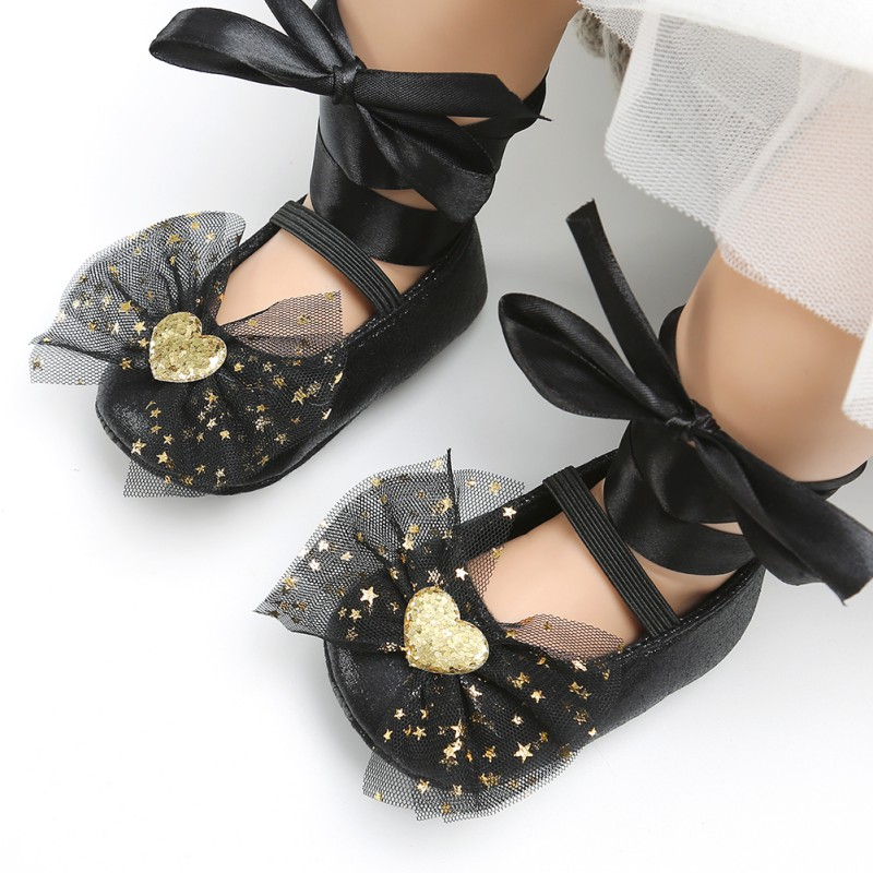 Spring Autumn Toddler First Walker Shoes Baby Girl  Bow Decoration Princess Shoes New Born Shoes For Girls