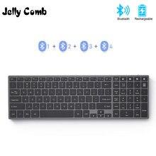 Jelly comb bluetooth клавиатура для ipad планшета ноутбука совместима