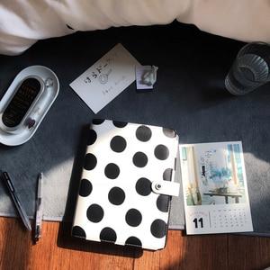 Image 3 - Lovedoki noir blanc à pois journal personnel A5 spirale cahier planificateur organisateur affaires école et bureau papeterie fournitures