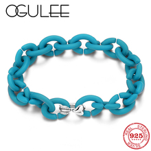 Men Bracelet Turquoise Color Hard Rubber X Love Heart Arrow