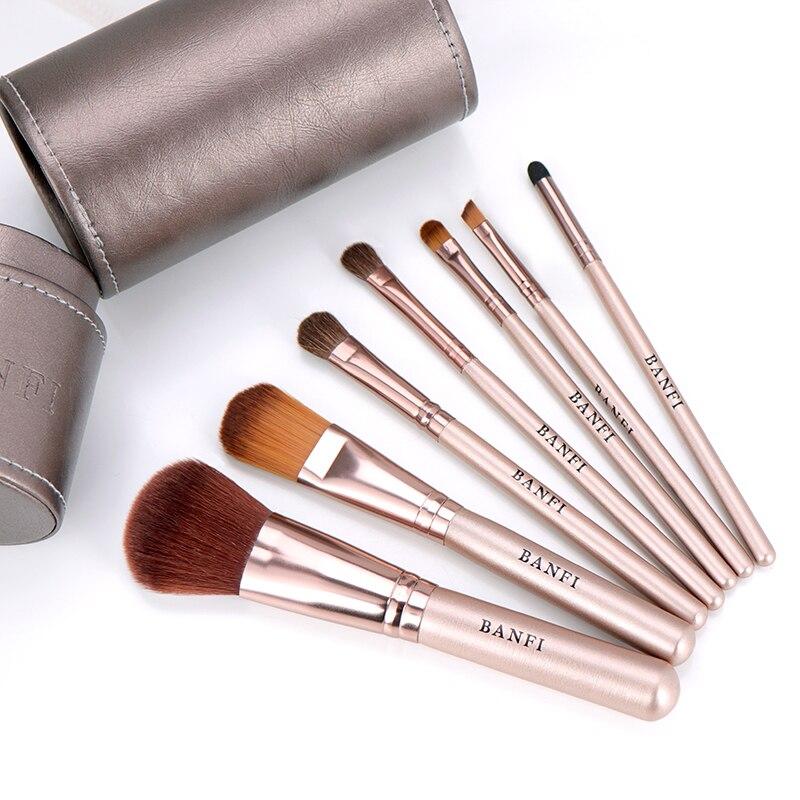 7pcs set Makeup Brushes set profesional Foundation Blusher Eyeshadow Lips Make up Brush Cosmetic Set Kit