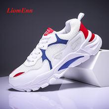 Белые кроссовки на плоской платформе Женские туфли лодочки 2020